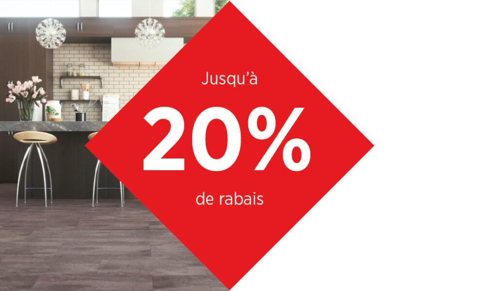 JUSQU'À 20% DE RABAIS